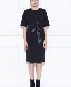 Rochie de zi cu cordon in talie Negru - Imbracaminte - Imbracaminte / Rochii de zi