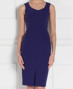 Rochie de zi cu decolteu rotund Bleumarin - Imbracaminte - Imbracaminte / Rochii de zi