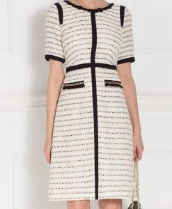 Rochie de zi cu detalii contrastante Crem - Imbracaminte - Imbracaminte / Rochii de zi