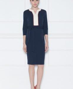 Rochie de zi cu detalii frontale Bleumarin - Imbracaminte - Imbracaminte / Rochii de zi