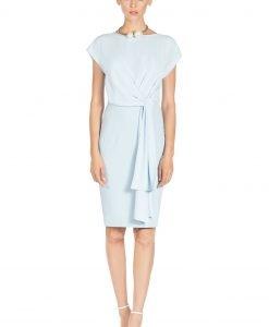 Rochie de zi cu detaliu in talie Albastru Deschis - Imbracaminte - Imbracaminte / Rochii de zi