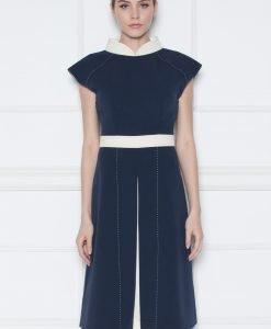 Rochie de zi cu detaliu in talie Bleumarin - Imbracaminte - Imbracaminte / Rochii de zi