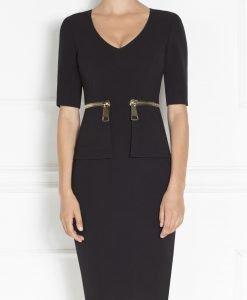 Rochie de zi cu fermoare supradimensionate Negru - Imbracaminte - Imbracaminte / Rochii de zi