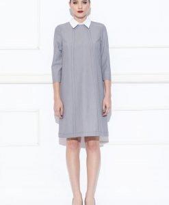 Rochie de zi cu guler tip camasa Gri - Imbracaminte - Imbracaminte / Rochii de zi
