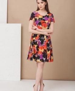 Rochie de zi cu imprimeu floral DA-272 - Rochii de zi -
