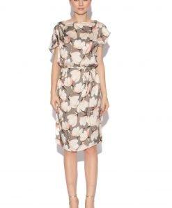 Rochie de zi cu imprimeu floral Imprimeu roz - Imbracaminte - Imbracaminte / Rochii de zi