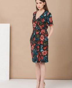 Rochie de zi cu imprimeu floral M664N - Rochii de zi -