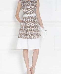 Rochie de zi cu imprimeu geometric Bej - Imbracaminte - Imbracaminte / Rochii de zi