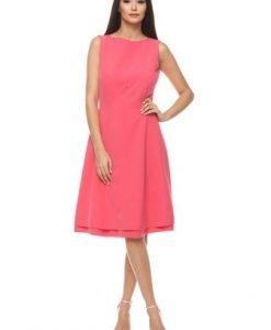 Rochie de zi fara maneci NORN roz - Rochii de zi -