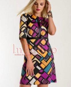 Rochie din tercot imprimat - ROCHII -