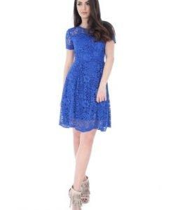 Rochie eleganta albastra din dantela DR3006 - Rochii de seara -