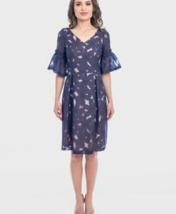Rochie eleganta bleumarin RAMONA-B - Rochii de seara -