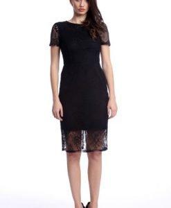 Rochie eleganta din dantela AM-21611106 negru - Rochii de seara -