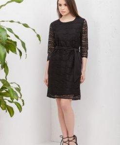Rochie eleganta din dantela RO155 negru - Rochii de seara -
