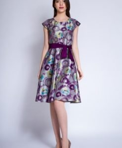 Rochie eleganta din tafta EMA gri - Rochii de seara -