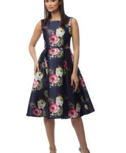 Rochie eleganta in clos cu imprimeu floral DR2994 - Rochii de seara -