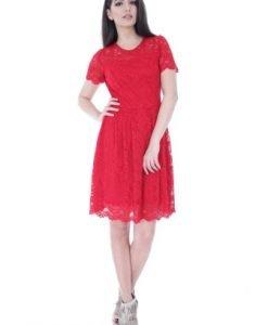 Rochie eleganta rosie din dantela DR3005 - Rochii de seara -