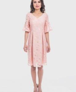 Rochie eleganta roz RAMONA-R - Rochii de seara -