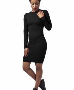 Rochie urban stramta cu maneca scurta pentru Femei negru Urban Classics - Rochii si fuste - Urban Classics>Femei>Rochii si fuste