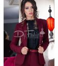 Sacou Bordo Satin - Office Collection -