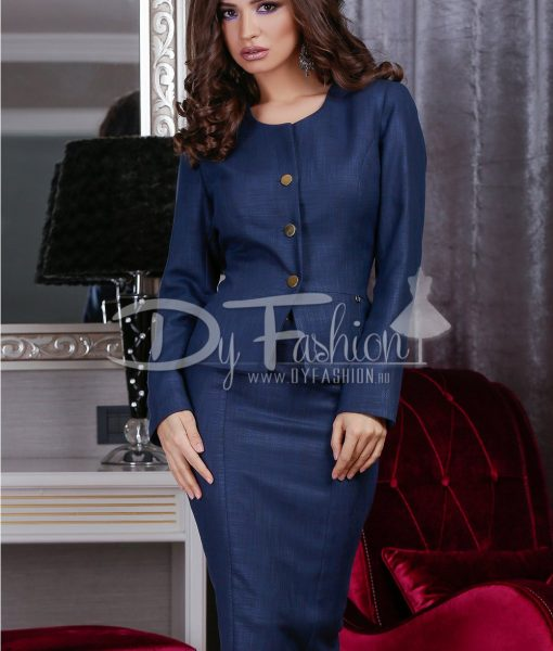 Sacou Dark Blue Chic – Office Collection –