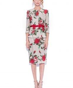 Sacou din in cu print floral Imprimeu - Imbracaminte - Imbracaminte / Sacouri