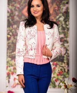 Sacou imprimeu floral roz - SACOURI -