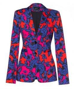 Sacou modern cu imprimeu multicolor Imprimeu - Imbracaminte - Imbracaminte / Sacouri