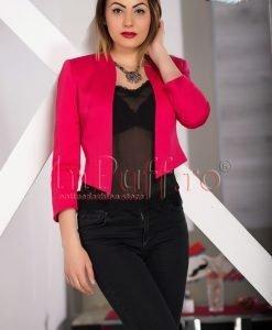 Sacou roz cu model texturat - SACOURI -