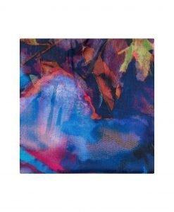 Sal multicolor din matase Bleumarin - Accesorii - Accesorii / Saluri