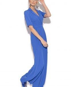 Salopeta cu pantaloni largi si maneca trei sferturi Albastru electric - Imbracaminte - Imbracaminte / Salopete