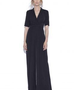 Salopeta cu pantaloni largi si maneca trei sferturi Negru - Imbracaminte - Imbracaminte / Salopete