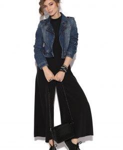 Salopeta culottes eleganta Negru - Imbracaminte - Imbracaminte / Salopete