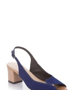Sandale albastre din piele intoarsa 1608 - Sandale -