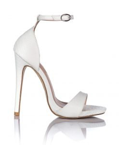Sandale albe cu bareta subtire Alb - Incaltaminte - Incaltaminte / Sandale
