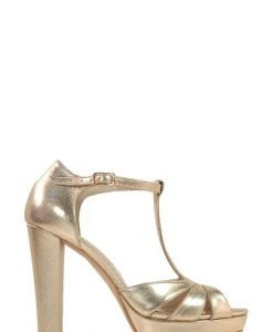 Sandale aurii cu platforma din piele naturala Y31 - Sandale -