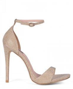 Sandale aurii din tesatura cu insertii de glitter Auriu - Incaltaminte - Incaltaminte / Sandale