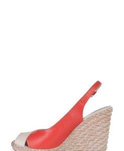 Sandale crem cu corai din piele naturala 338 - Sandale -
