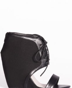 Sandale cu detalii din piele Negru - Incaltaminte - Incaltaminte / Sandale