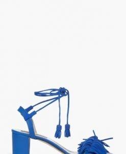 Sandale cu franjuri din piele intoarsa naturala CB062 - Sandale -
