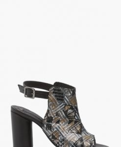 Sandale cu imprimeu baroc din piele naturala CB030 - Sandale -