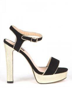 Sandale cu platforma aurie Auriu/Negru - Incaltaminte - Incaltaminte / Sandale