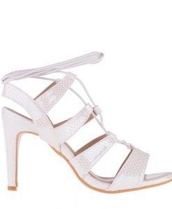 Sandale dama Agosto albe - Incaltaminte Dama - Sandale Dama