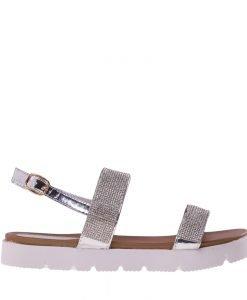 Sandale dama Alma argintii - Incaltaminte Dama - Sandale Dama
