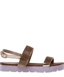 Sandale dama Alma aurii - Incaltaminte Dama - Sandale Dama