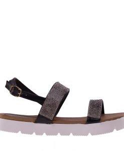 Sandale dama Alma negre - Incaltaminte Dama - Sandale Dama