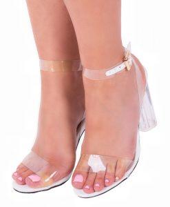 Sandale dama Amara albe - Incaltaminte Dama - Sandale Dama