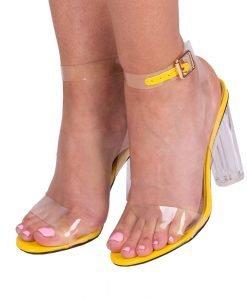 Sandale dama Amara galbene - Incaltaminte Dama - Sandale Dama