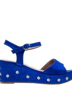 Sandale dama Aqua albastre - Incaltaminte Dama - Sandale Dama