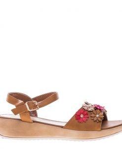 Sandale dama Arwen camel - Incaltaminte Dama - Sandale Dama